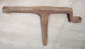 "Tea Kettle Stake, also called an ""Art Metal Horse"""